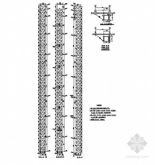 某水泥厂钢结构电梯井道构造详图