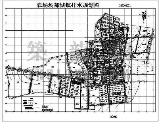 农场场部城镇给排水规划图