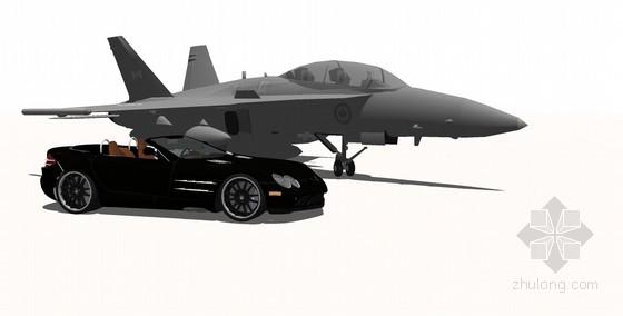 跑车和飞机SketchUp模型下载