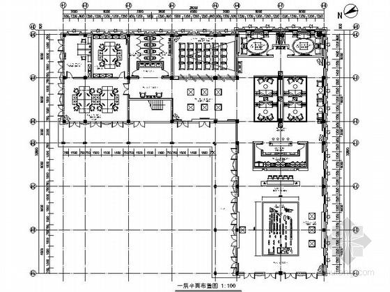 [江西]绿色低碳高档住宅售楼处室内装饰施工图(含效果)
