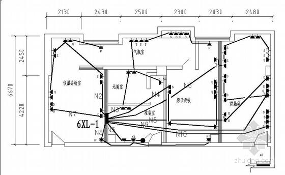 成都某检测中心电气施工图
