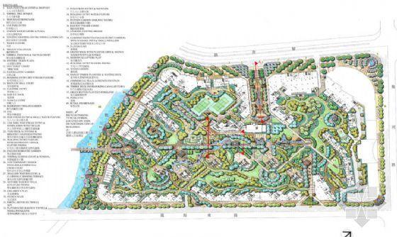 连云港居住区景观施工图手绘图片