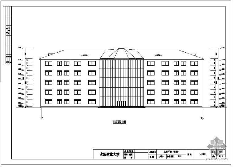 [学士]沈阳某学院办公楼毕业设计(含计算书、建筑结构设计图)