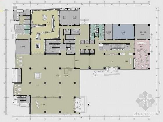 二十四层办公楼资料下载-[上海]24层综合现代办公楼装修设计方案