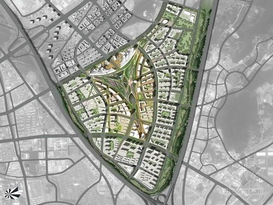 [南京]古都康居宜业生态城景观规划设计方案(超高清效果图)