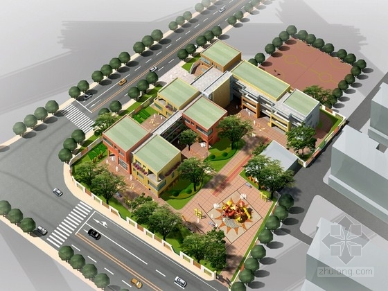[浙江]现代风格幼儿园建筑设计方案文本(含CAD)