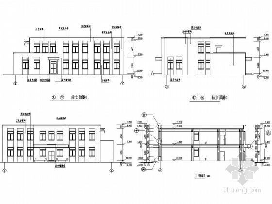 [吉林]两层框架结构工人倒班宿舍建筑结构施工图