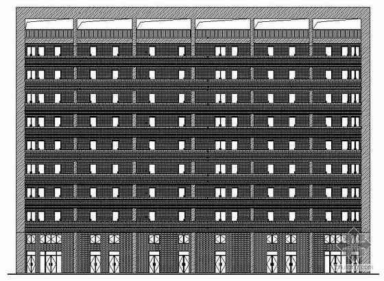 [东莞市]某公司九层宿舍楼建筑结构施工图