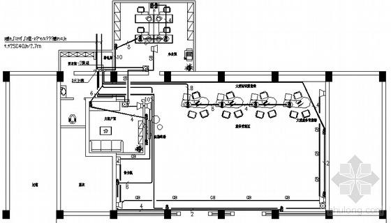 移动营业厅电气装修图
