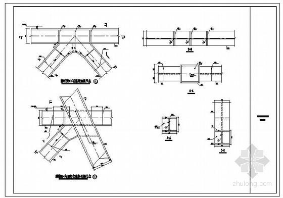 某钢结构桁架节点构造详图