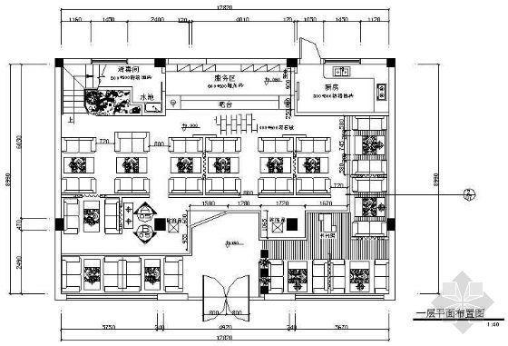 [分享]咖啡吧CAD图资料下载效果图酒柜cad图图片