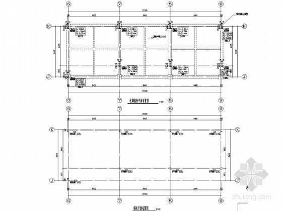 酒店游泳池钢结构桁架结构施工图