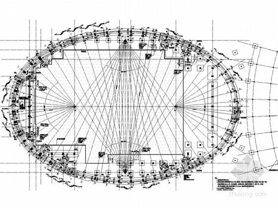钢筋混凝土框架-钢桁架屋面奥林匹克游泳馆结构施工图