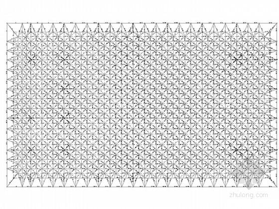 学校风雨操场网架结构施工图