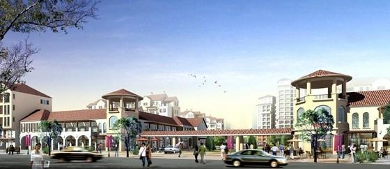 [江苏]生态型西班牙风格住宅区规划设计方案文本-生态型西班牙风格住宅区规划效果图