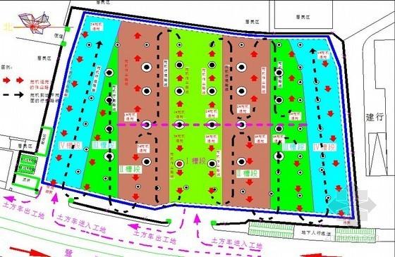 [福建]五层地下室半逆作法土方开挖施工方案(专家论证 多图)