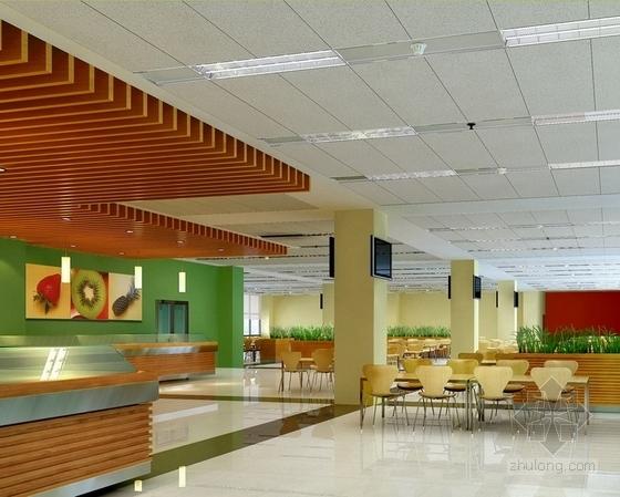 [北京]药品监督管理部门现代高档综合楼室内设计方案职工就餐区参考图