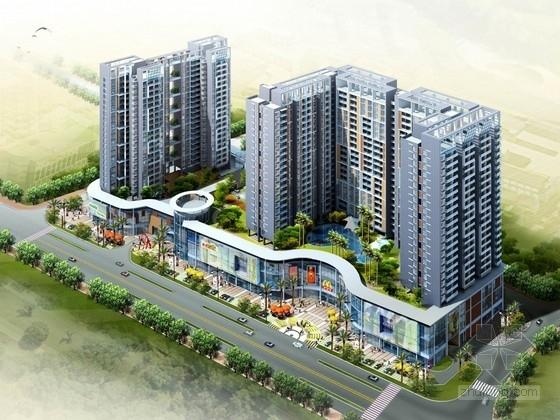 [广东]高层现代风格购物中心及住宅建筑设计方案文本