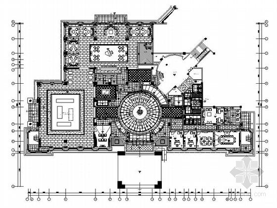 [四川]高档现代风格销售中心别墅样板房室内装修施工图(含方案效果图)