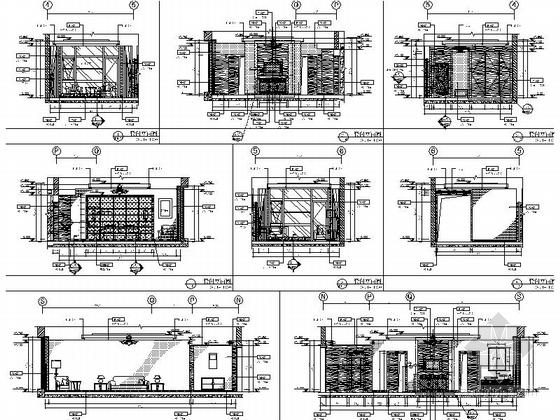 [石家庄]西山高端政务接待一体化山水园林式五星级迎宾馆全套室内设计施工图(含方案、水暖图纸)套间立面图