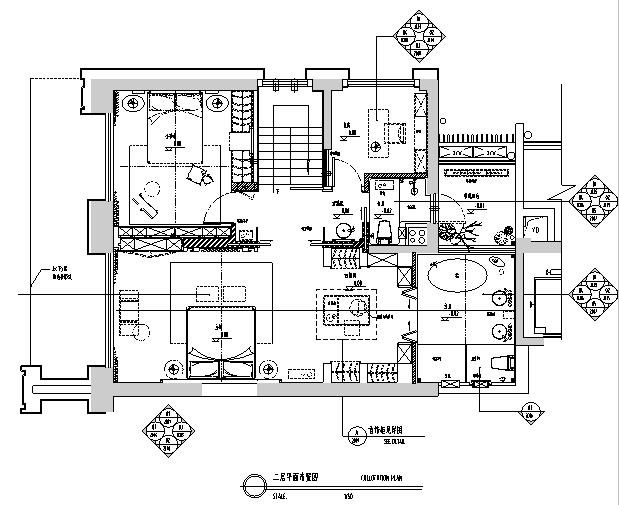 [深圳]现代轻奢别墅样板间室内设计施工图(含效果图)
