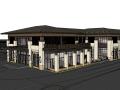日式现代风格无锡协信会所建筑模型设计