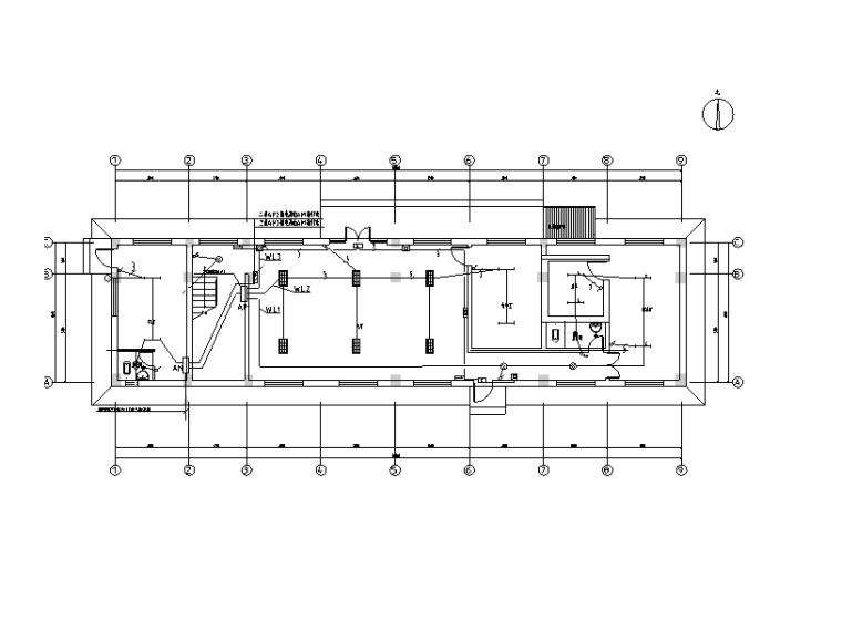 2018阿克塞石包城办公楼建筑电气施工图