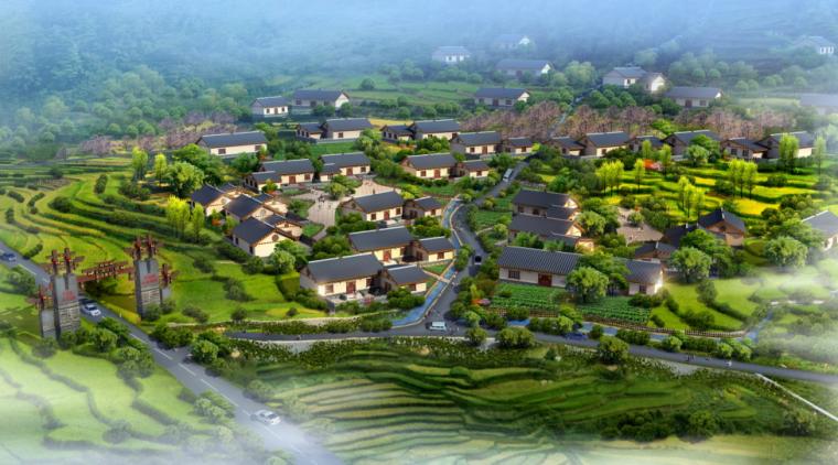 村落鸟瞰图2