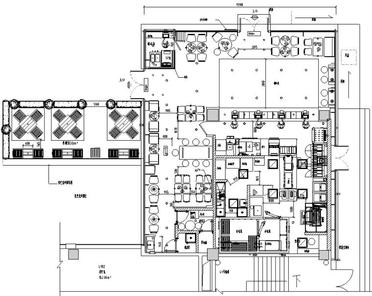汉堡王汉堡王卓越世纪中心店施工图&效果图&预算&结算&设计相关