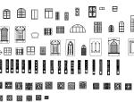 建筑室内装饰常用立面图块