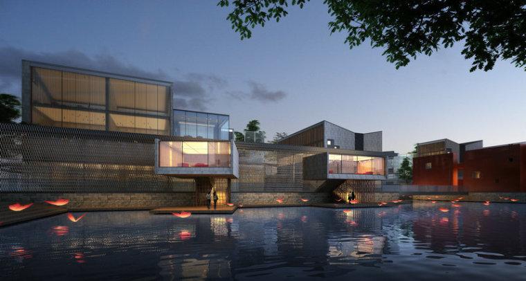 现代主义风格,3层商业街街模型最终设计(SU模型)-20150902_140135_358