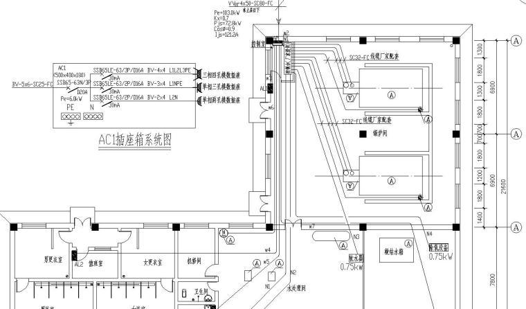 6吨燃气锅炉房电气图