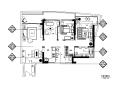 [海南]黄色西班牙样板房设计CAD施工图(含效果图)