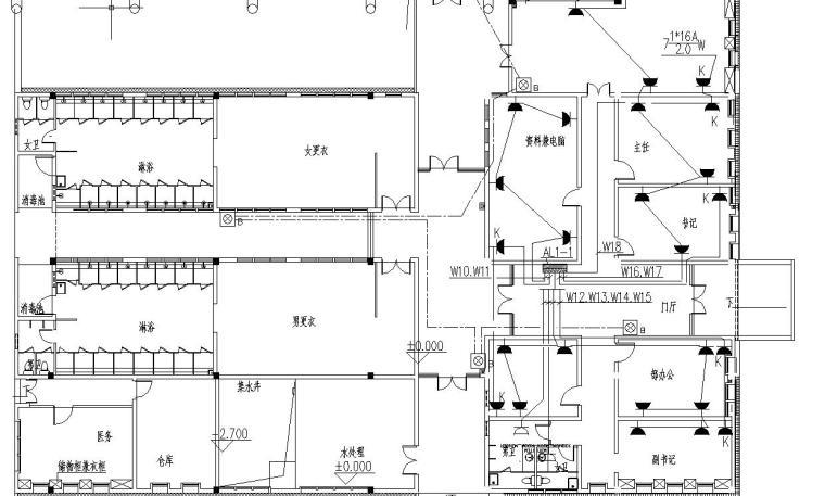某大学体育中心电气施工图