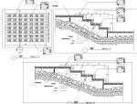 园林景观小品特色台阶坡道CAD施工图合集