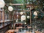 工业风和复古风的啤酒花园餐厅