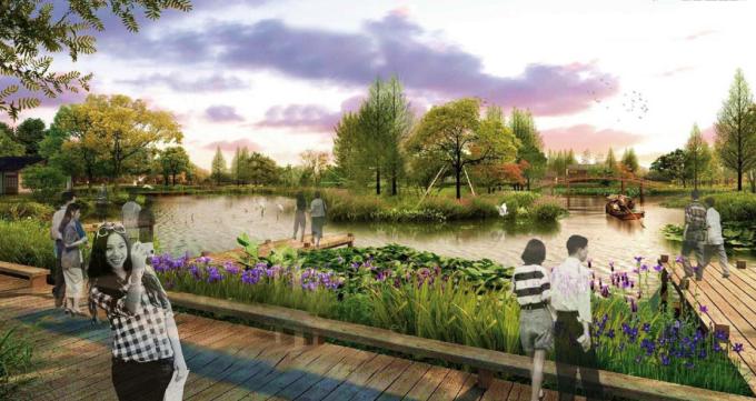 """[福建]""""海绵城市""""生态综合性郊野滨海湿地公园景观设计方案(2016最新)"""