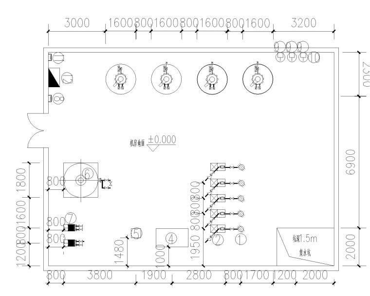 [江苏]泰州学校套游池水处理工程投标图纸全