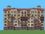 叠拼住宅建筑设计SU模型