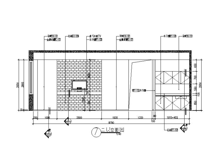 别墅楼办公室设计CAD施工图(含效果图)_5