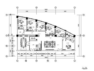 【山东】某有限公司办公室设计施工图(含效果图)