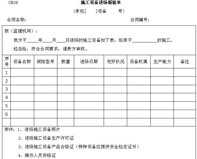 水利工程监理规范用表大全(直接套用)_5