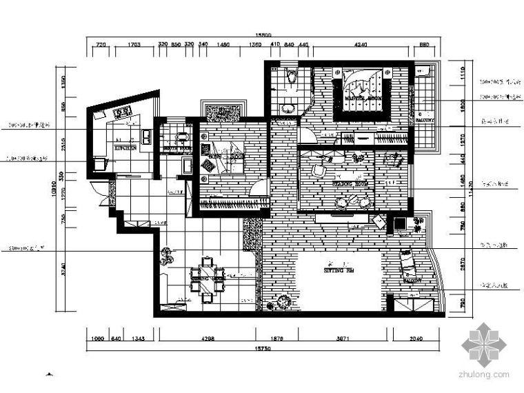 [湖南]三室两厅装修图(含效果)Ⅱ