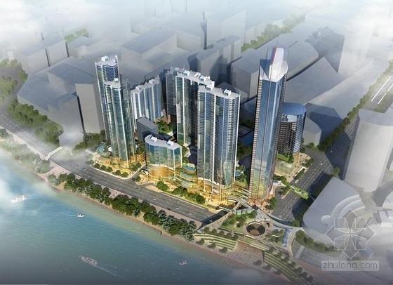 [长沙]超高层高度密集曲形商业建筑设计方案文本(国外著名设计院)