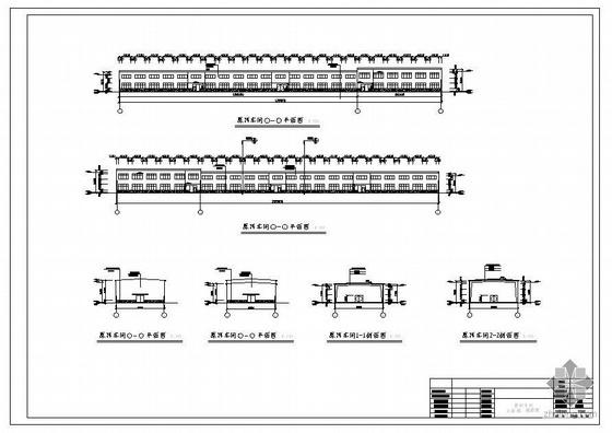 唐山某21米跨车间建筑结构图