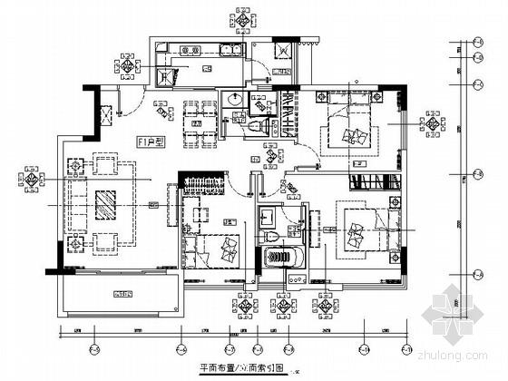 [佛山]某水景小区F1户型样板间室内装修图