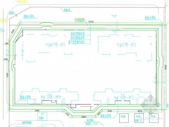 [河南]13米深基坑桩锚结合复合土钉墙支护施工图