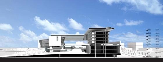 [三亚]弧线型度假酒店及豪华别墅区规划设计方案文本-弧线型度假酒店及豪华别墅区规划模型图