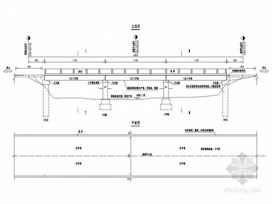 3x11.4m正交工字梁微弯板桥加固全套施工图(26张 附加固方案)