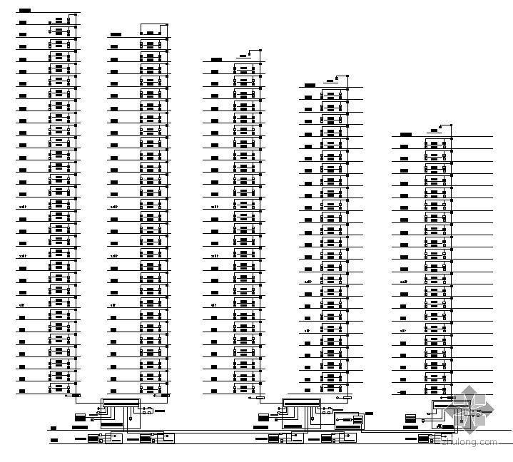 深圳某高层小区弱电安防系统图纸